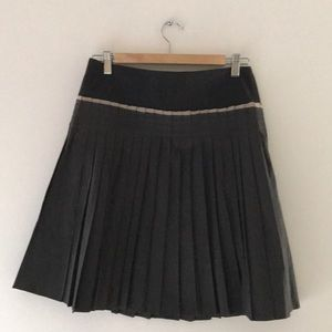 Cotélac French Pleated A-Line Skirt Pockets Size 2